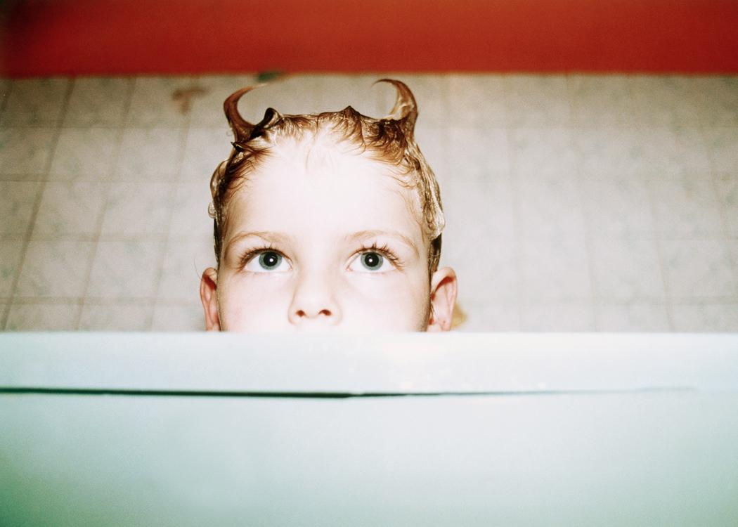 Connor bath time