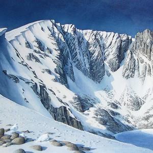 Ptarmigan, Lochnagar Winter_ Watercolour LS_ Philip Gibson